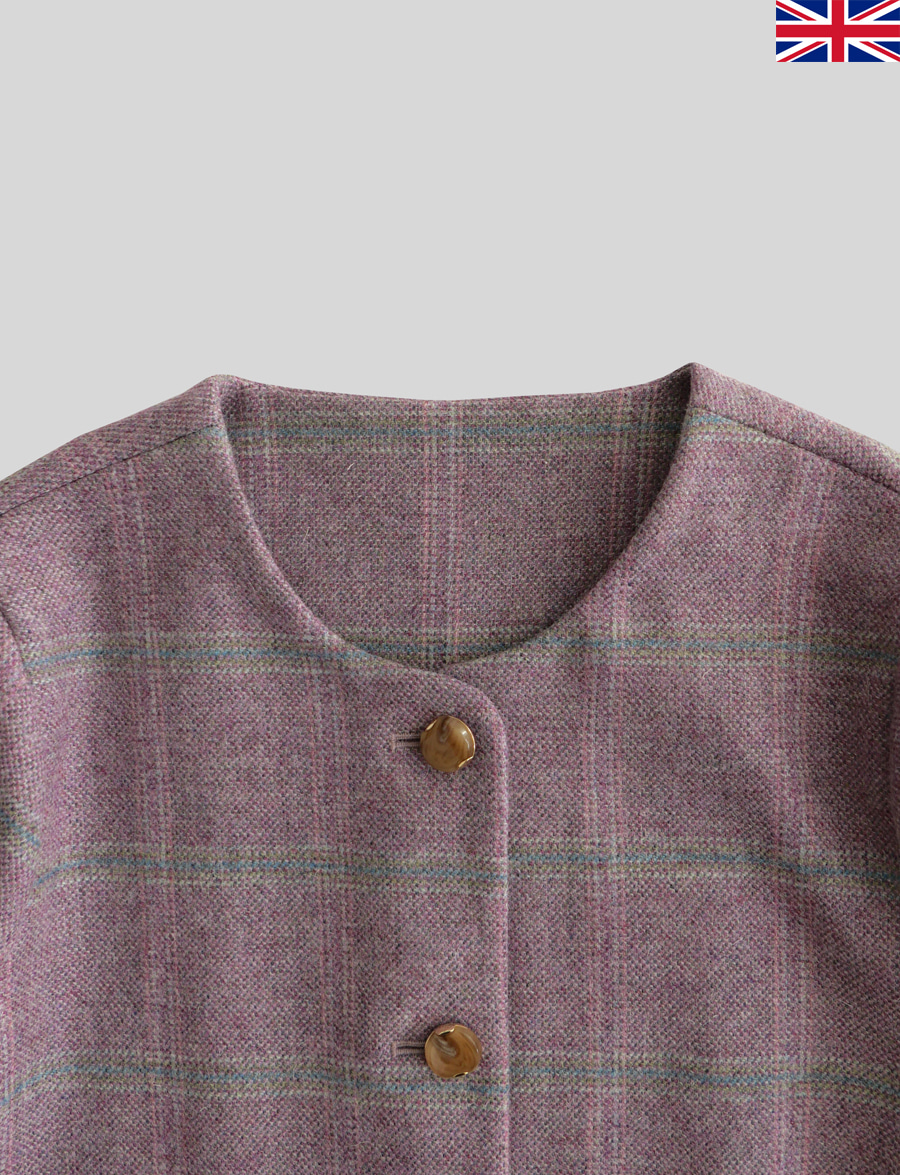 Agnés Jacket by Marton Mills Tweed (Jasmine)
