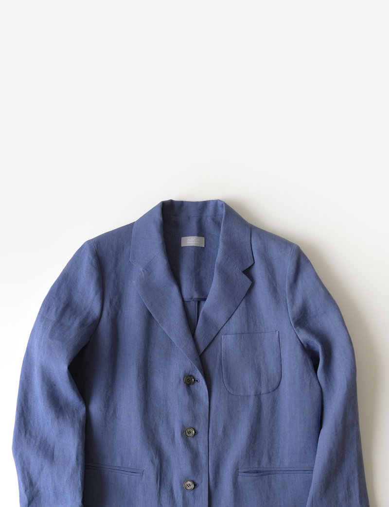 FRENCH LINEN JACKET.blue