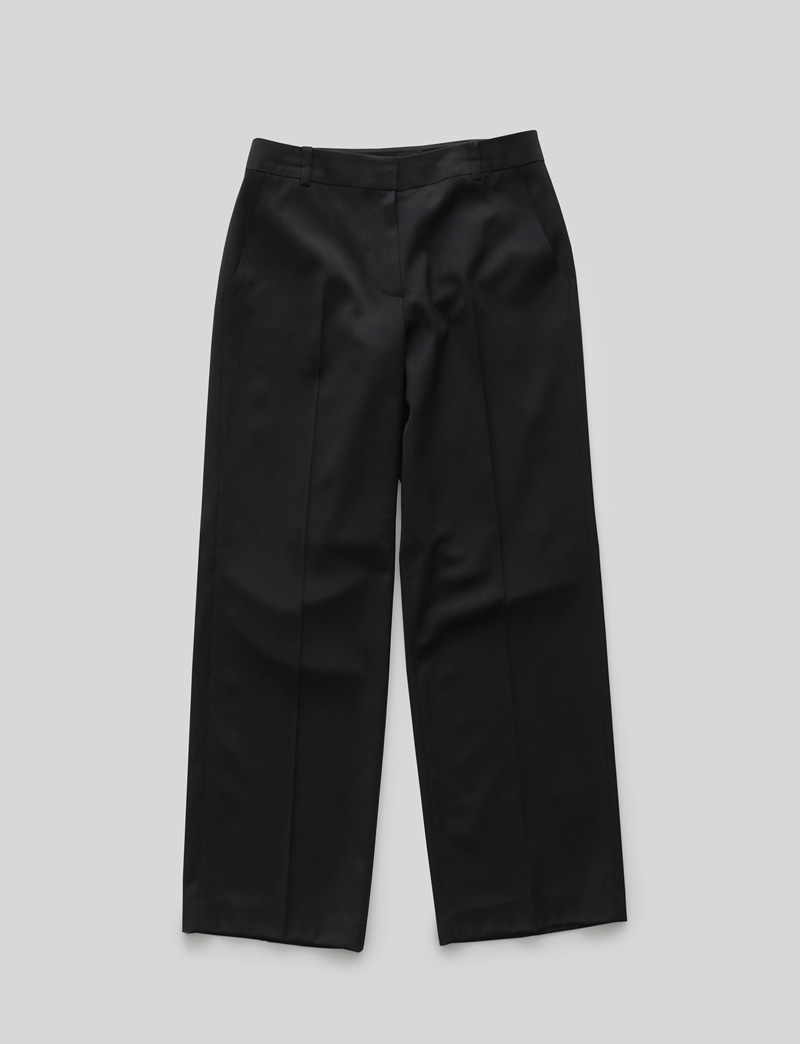 FORMAL WIDE SLACKS.black