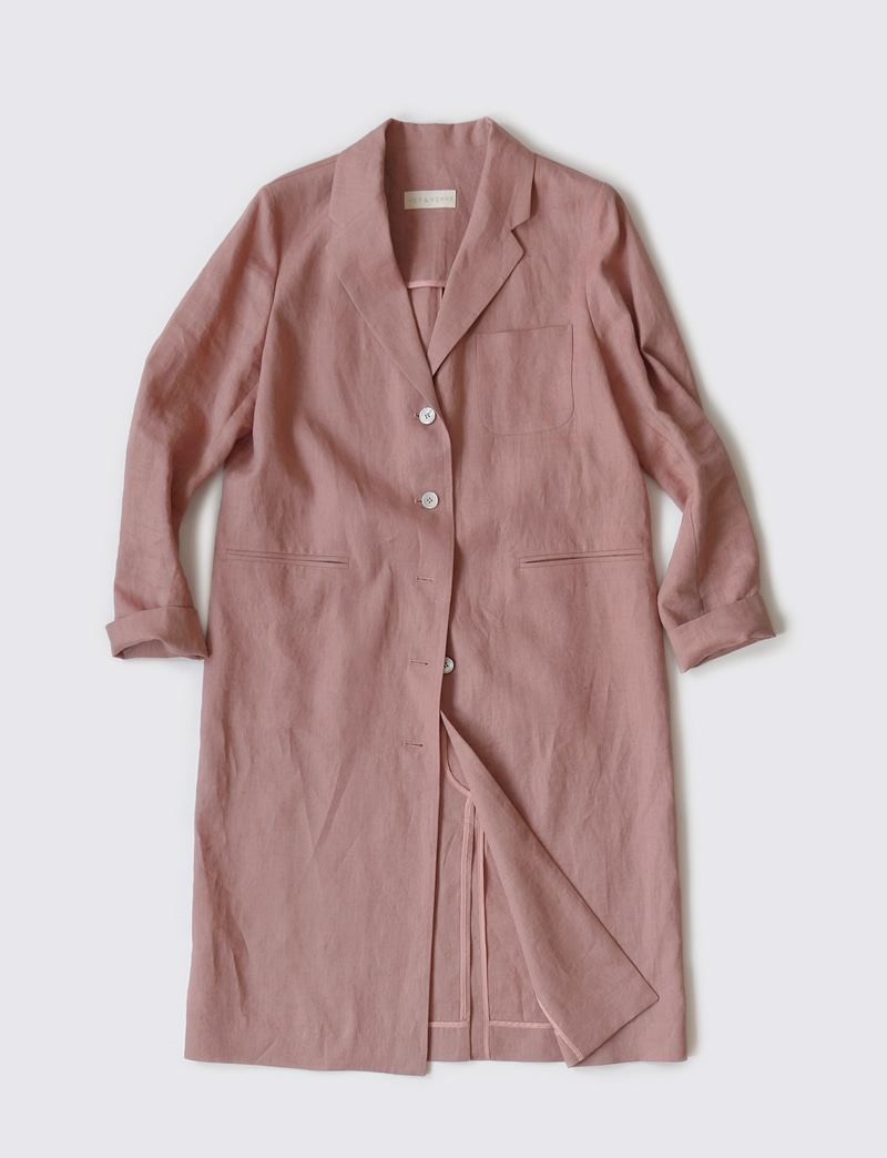 FRENCH LINEN JACKET.pink