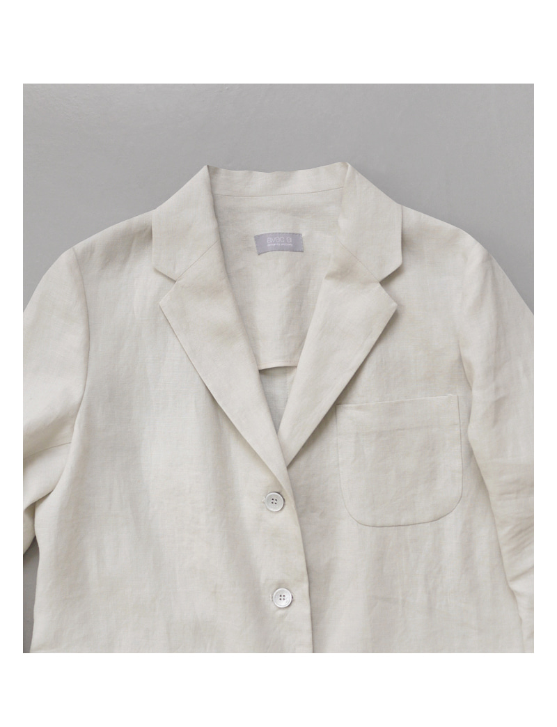 FRENCH LINEN JACKET.beige