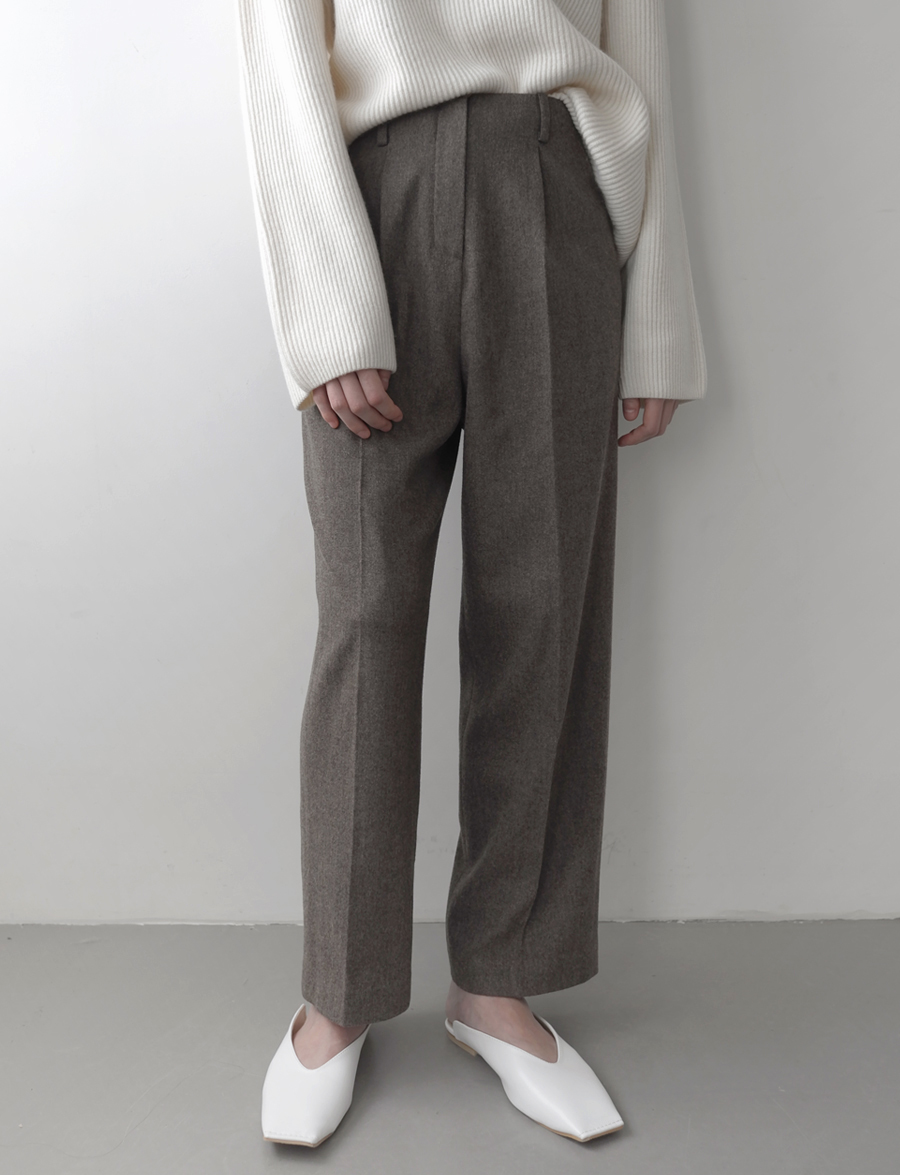 WOOL PINTUCK SLACKS