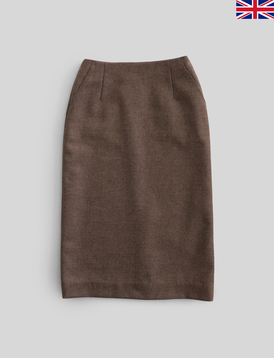 Agnés Skirt by Marton Mills Tweed (Cocoa)